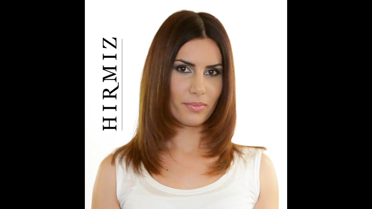 Layered Hair Cut Using The Hirmiz Level Cutting Comb Youtube