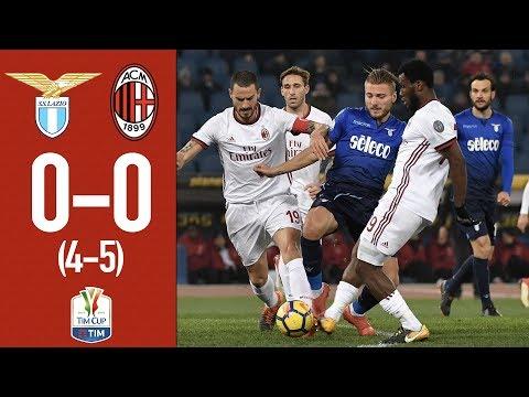 Highlights - Lazio 0-0 (4-5 pen) AC Milan - TIM Cup semifinal 2017/18