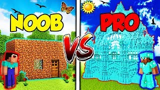 Minecraft - NOOB vs. PRO - DIAMOND HOUSE vs DIRT HOUSE