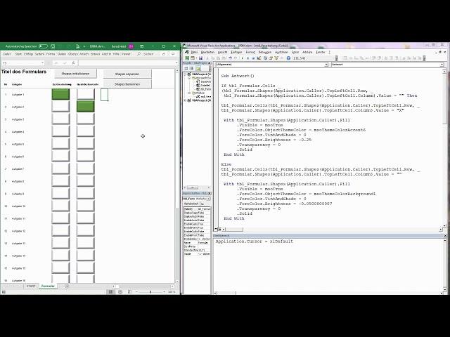 167. Excel-VBA: Mit Shapes auf Tabellen