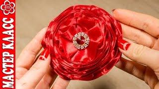 Цветы из ленты шириной 2,5 см / Куликова МК(В этом видео уроке я покажу как сделать красивый цветок из атласной ленты шириной 2,5 см. Как сделать цветы..., 2015-03-18T15:00:02.000Z)