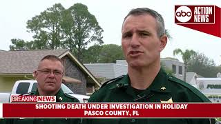 Pasco deputies investigate deadly shooting in Holiday, one suspect in custody