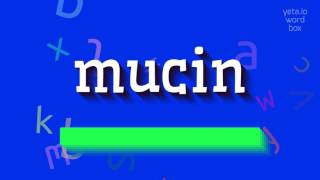 """How to say """"mucin""""! (High Quality Voices)"""