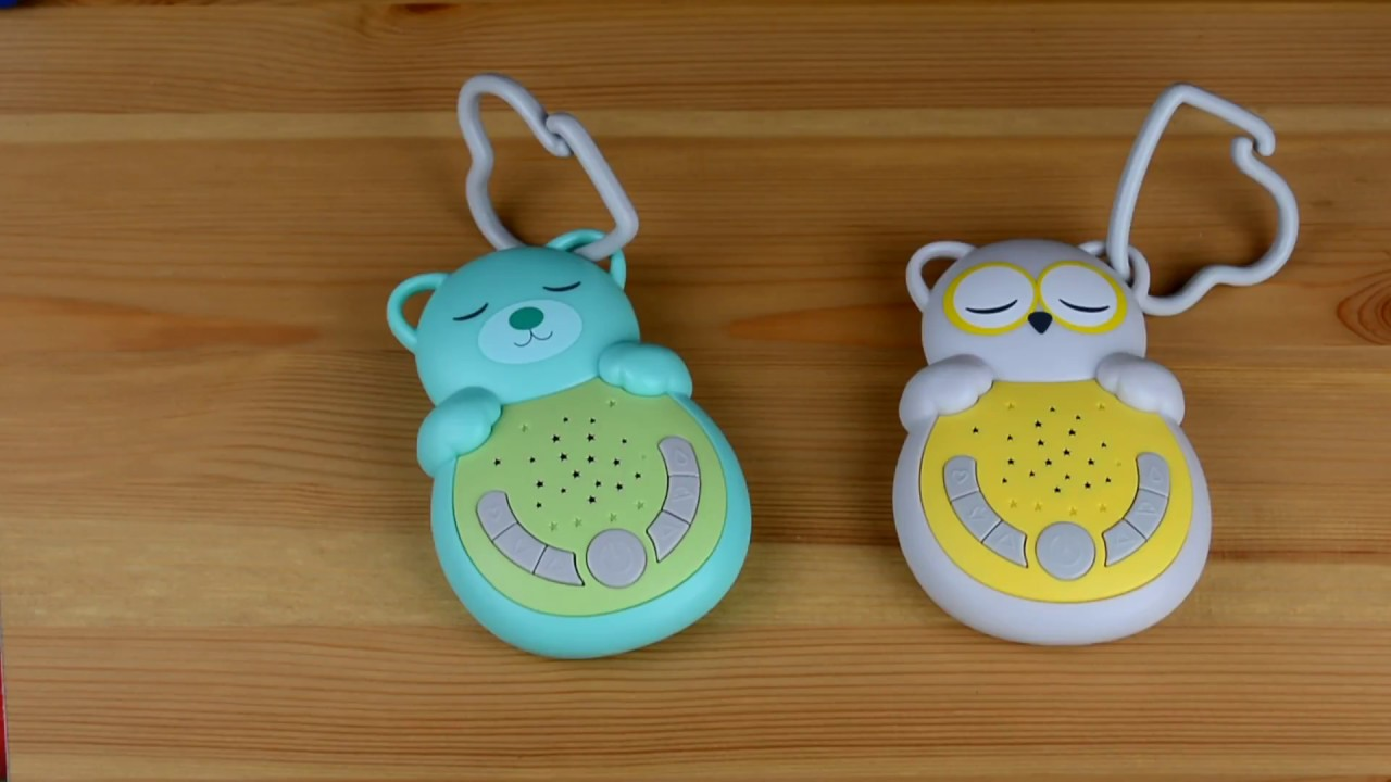 Owl Sleep Soothers Cloud B Sweet Dreamz On The Go Soother Grey//Yellow