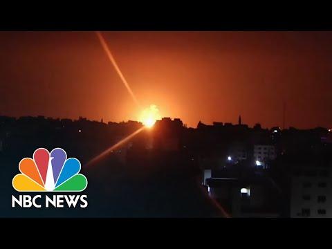 Islamic Jihad Missiles From Gaza Strip Intercepted By Israeli Missile Defense System | NBC News