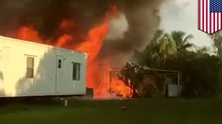 Lake Worth trailer park plane crash: at least three people killed, death toll may rise - TomoNews
