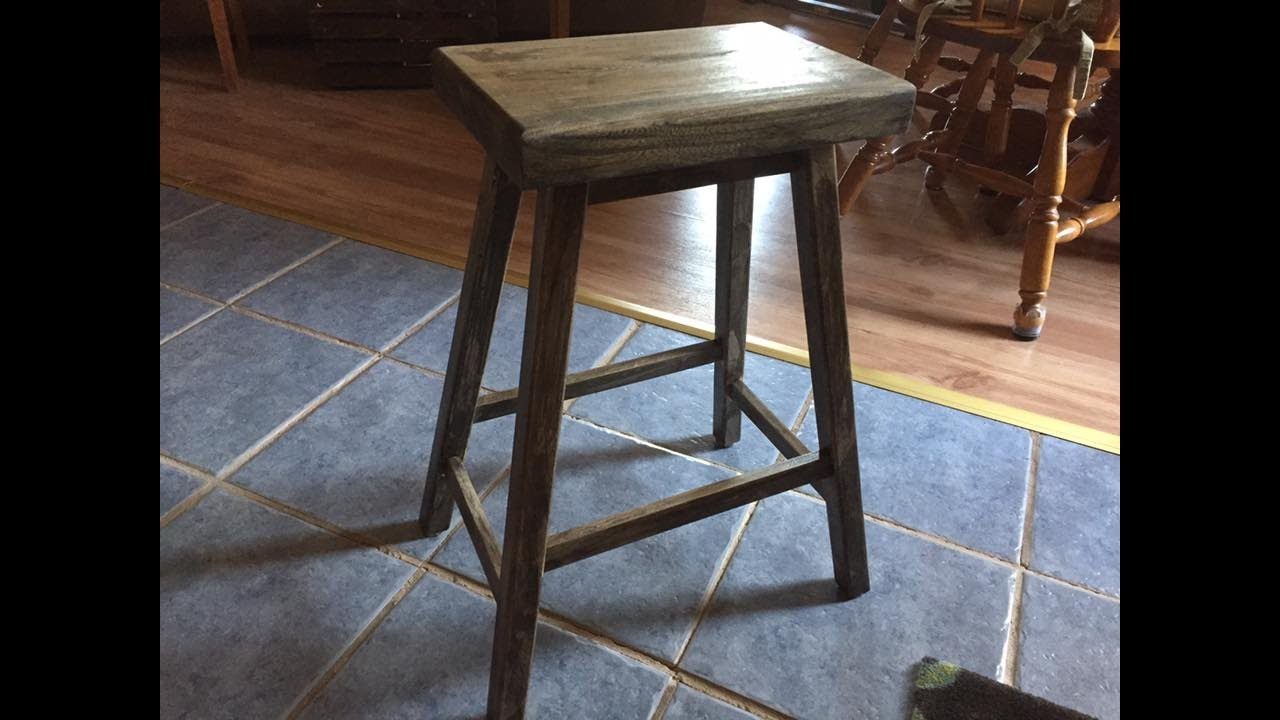 Handmade Small Stool - Bench DIY - YouTube