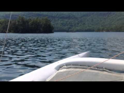 Farrier F25C Trimaran Drifting Along - YouTube