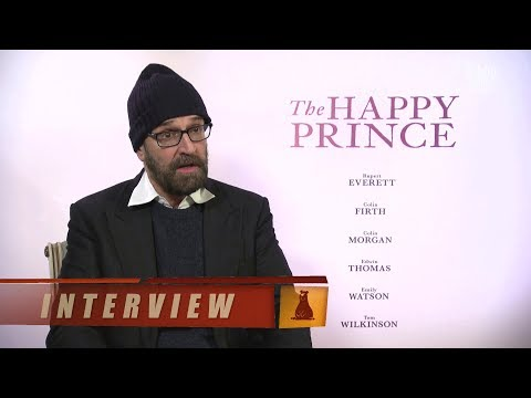 with Rupert Everett on 'The Happy Prince'