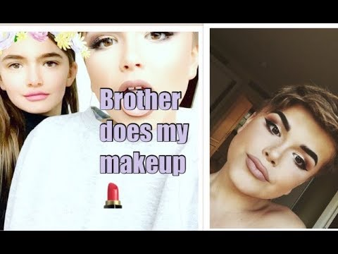 Brother does my makeup 😂