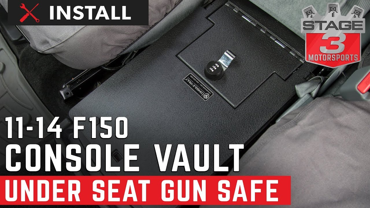 2011 2014 F150 Console Vault Under Front Middle Seat Gun Safe Install