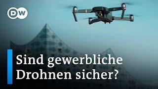 Der Hamburger Hafen als Testfeld für gewerbliche Drohnen | DW Nachrichten