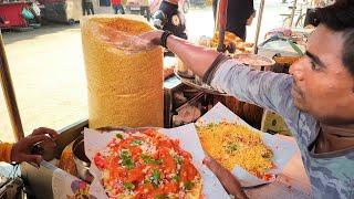 Masala Khichiya Papad : Best Street Food Mumbai    Most Unique Street Food    India Street Food