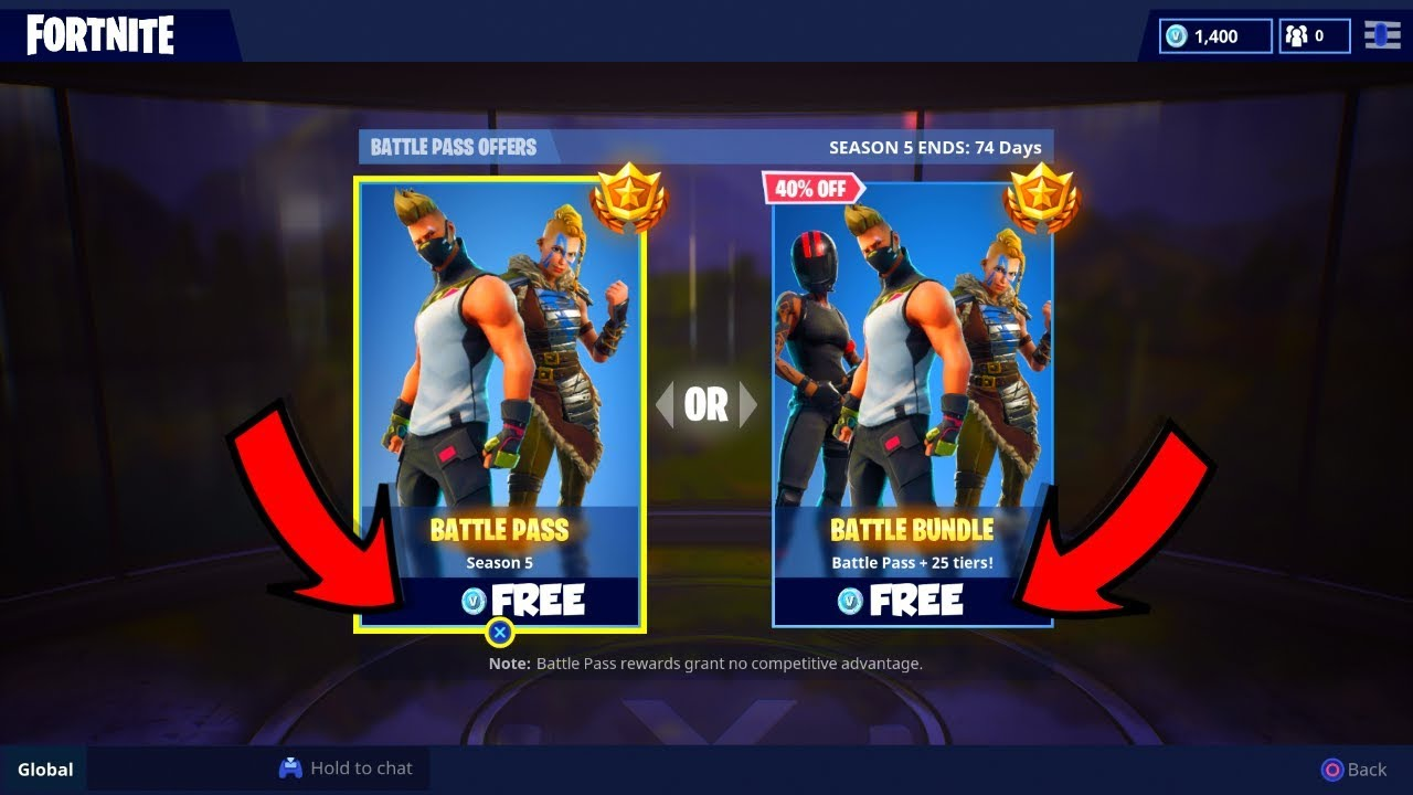 New How To Get Season 5 Battle Pass For Free In Fortnite Battle