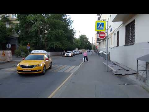 Москва 63 Оболенский переулок лето вечер