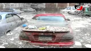 سيارات غارقة بـ«جراچ الإسكندرية» ومتضرر: «ولا بلاعة سالكة»