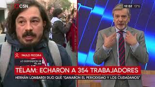 TÉLAM: Echaron a 354 trabajadores de la agencia