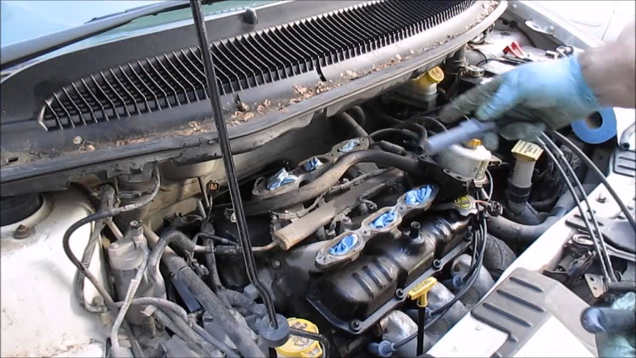 How to change spark plugs dodge caravan 3 3l engine part 3 rear bank youtube