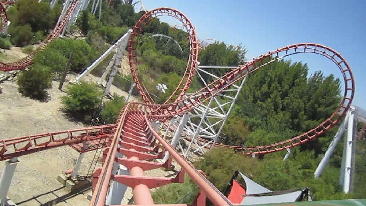 Viper front seat on-ride HD POV Six Flags Magic Mountain ...