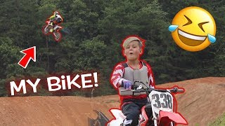 STEALING MY LITTLE BROTHER'S DIRT BIKE!!!