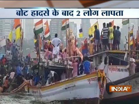 Boat capsizes during Lalbaugcha Raja Ganesh Idol immersion in Mumbai