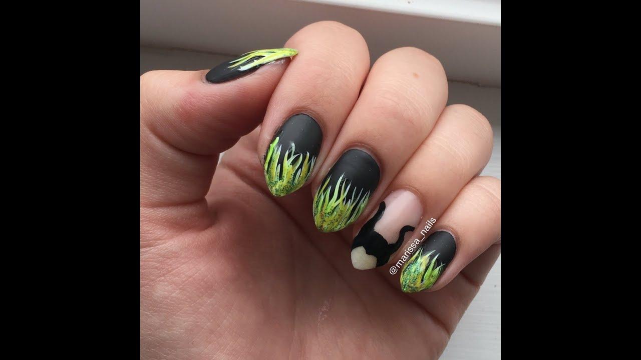 Disney S Maleficent Nail Art