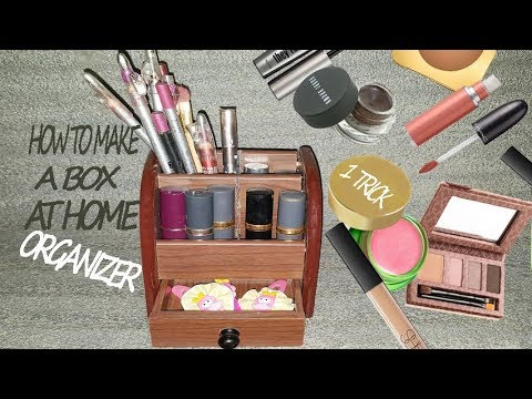 How To Make Makeup And jewelry Organizer| Using wood| by 1 Trick