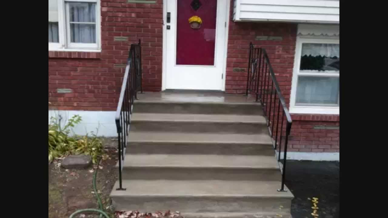 Quick Concrete Stair Makeover For Stairs With Minor Wear Tear | Painting Exterior Concrete Steps | Wood | Cement | Behr | Curb Appeal | Coating