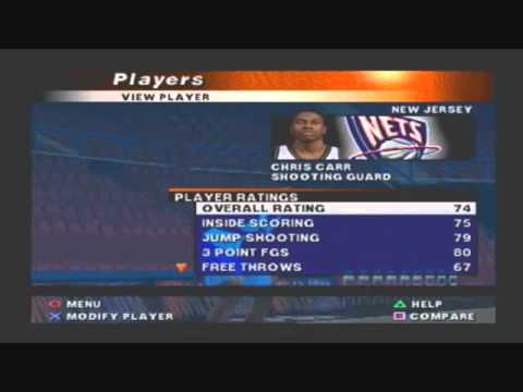 san francisco 53511 4be4c NBA Live 2000 Default Roster Player Ratings New Jersey Nets