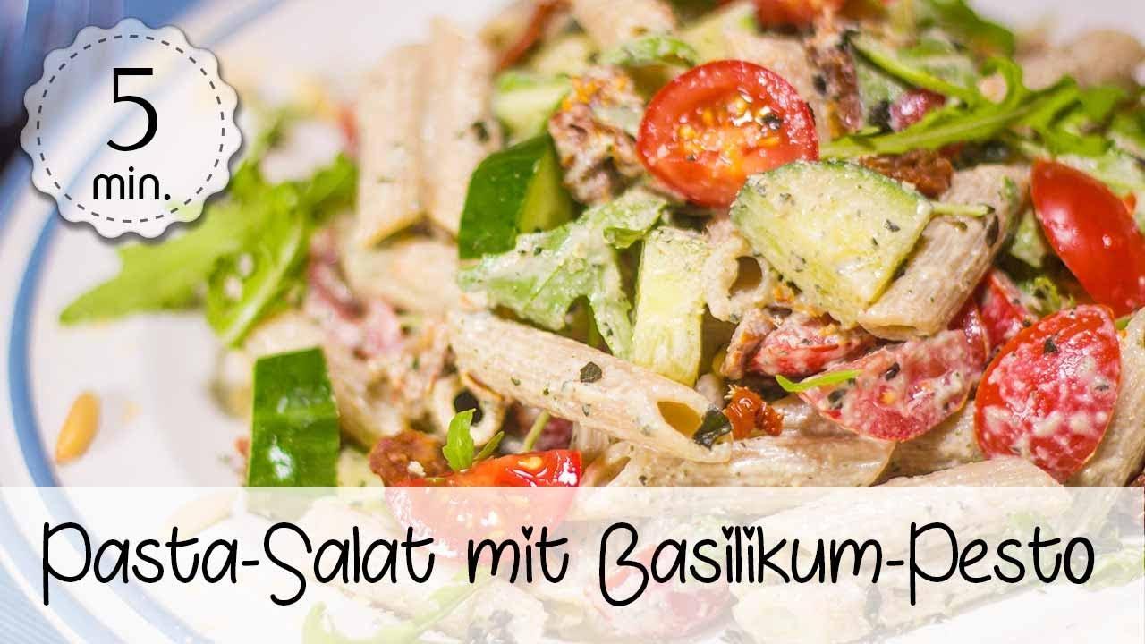 Pastasalat Mit Rucola Und Getrockneten Tomaten Schnell Gesund Und