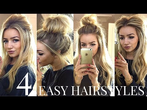 4 QUICK & EASY HEATLESS SCHOOL HAIRSTYLES