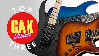 Top Three Budget Shred Guitars demo at GAK