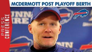Buffalo Bills Head Coach Sean McDermott Post Win Over Steelers | Clinch Playoff Berth