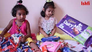 Happy Toddler got lots of Candies Sweets Chocolate from Aunty | Ishfi