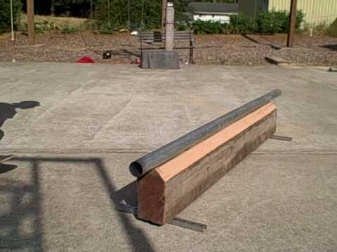 homemade skateboard rail youtube. Black Bedroom Furniture Sets. Home Design Ideas