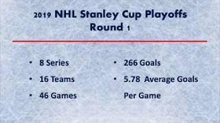 2019 NHL Stanley Cup Playoffs - Round 1 TOTALS