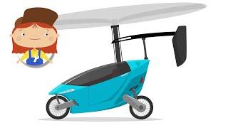 Мультики про машинки - Доктор Машинкова - Летающий автомобиль, Машина-вертолет
