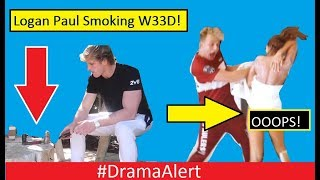 Logan Paul CAUGHT SMOKING W33D! #DramaAlert Erika Costell Shows SNAKE TAIL! KSI vs Alex Wassabi