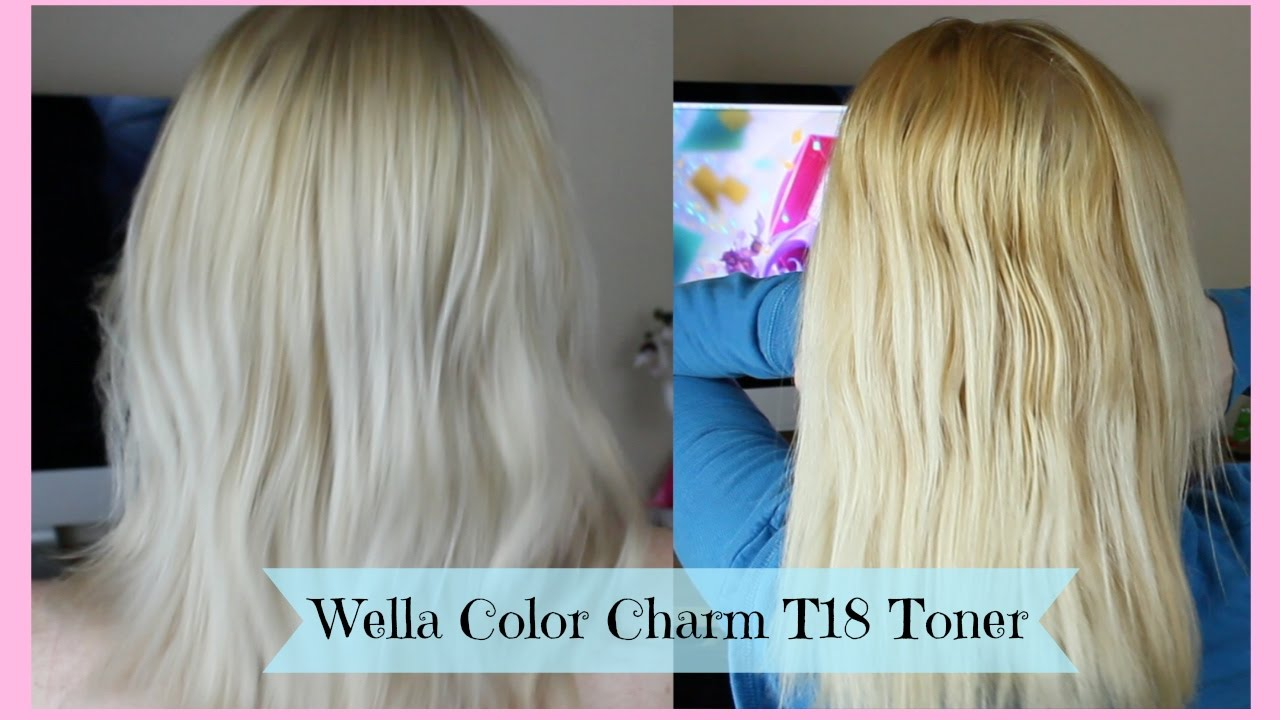 Toning Blonde Hair Wella Color Charm T18 Toner Youtube