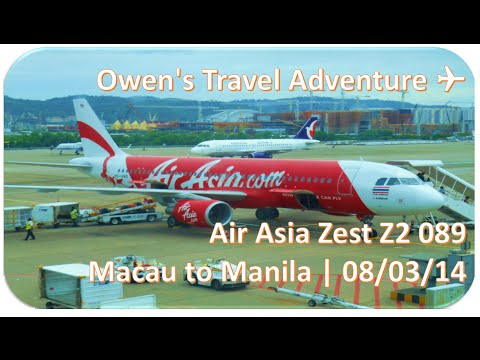 Air Asia Zest Z2 89 Macau to Manila A320