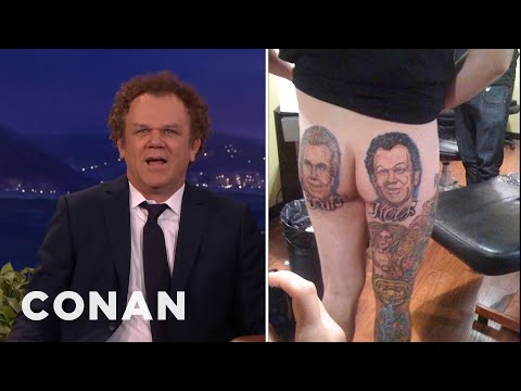"John C. Reilly Is Aghast At This Insane ""Step Brothers"" Tattoo  - CONAN on TBS"