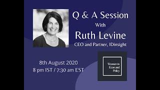 QnA with Dr Ruth Levine, CEO (IDinsight)