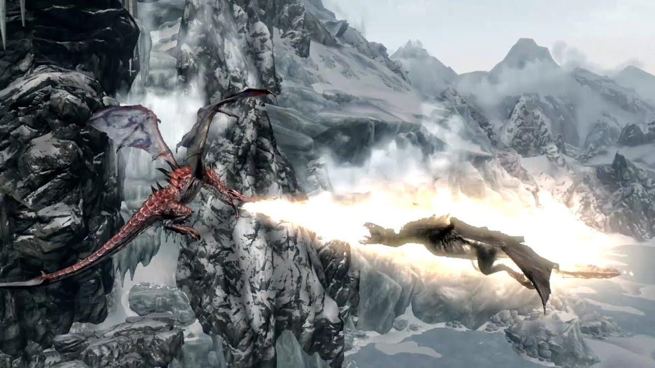 Skyrim Battles - Part 1 - Sahrotaar vs Odahviing [Legendary Settings]