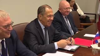 """С.Лавров🇷🇺 и Б.Родригес🇨🇺 """"на полях"""" 74-й сессии ГА ООН, Нью-Йорк, 27 сентября"""