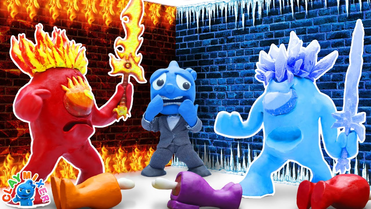 Download Tiny's Cornered by HOT and COLD Among Us - Impostor on Fire vs Icy Crewmate   Clay Mixer Stop Motion