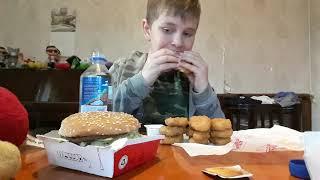 Asmr Chicken Nuggets Double Cheeseburger Mukbang No Talking