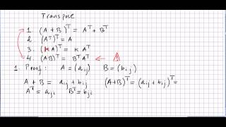 Linear Algebra 63, Properties of Matrix Transpose, Proofs