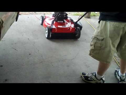 brand new lawn mower first start