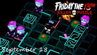 Friday the 13th Killer Puzzle Daily Death September 18 2020 Walkthrough