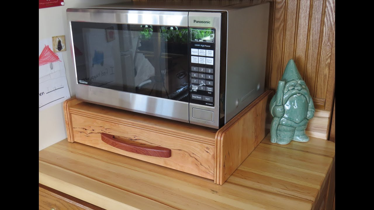 Home Built Wild Cherry Stand For A Panasonic Microwave